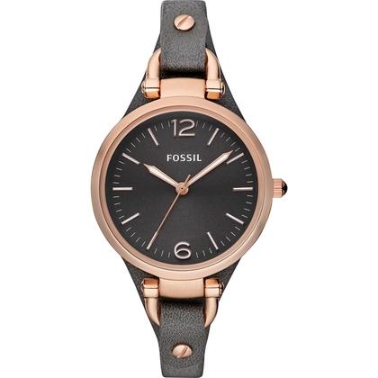 Fossil ES3077 Watch Strap Black Leather