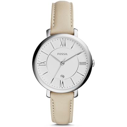 Fossil ES3793 Watch Strap Beige Leather