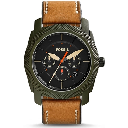 Fossil FS5041 Watch Strap Brown Leather