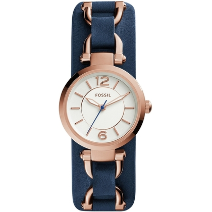 Fossil ES3857 Watch Strap Blue Leather