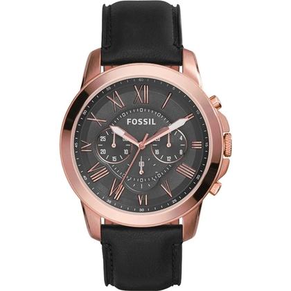 Fossil FS5085 Watch Strap Black Leather