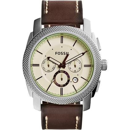 Fossil FS5108 Watch Strap Brown Leather