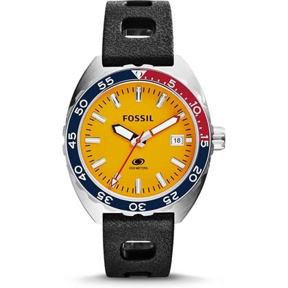 Fossil FS5052 Watch Strap Black Rubber