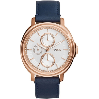 Fossil ES3832 Watch Strap Blue Leather