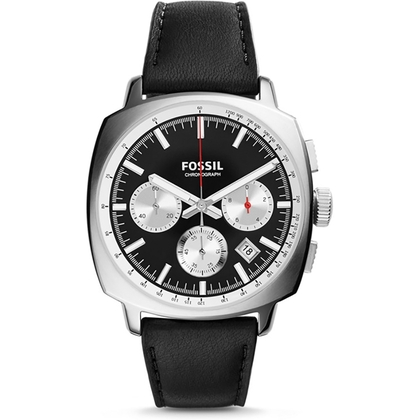 Fossil CH2984 Watch Strap Black Leather