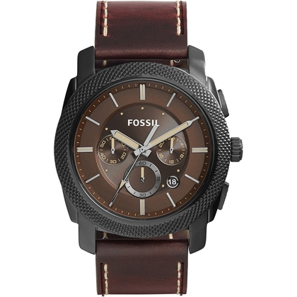 Fossil FS5121 Watch Strap Brown Leather