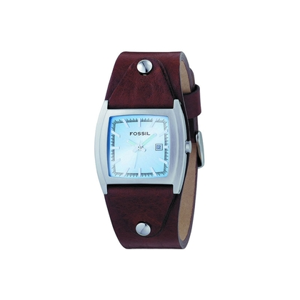 Fossil JR8133 Watch Strap Brown Leather