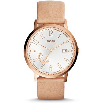 Fossil ES3751 Watch Strap Beige Leather