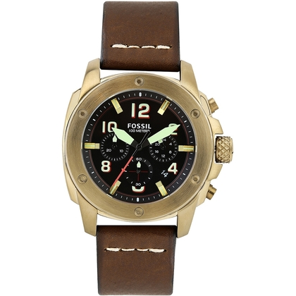 Fossil FSXXXX Watch Strap Brown Leather