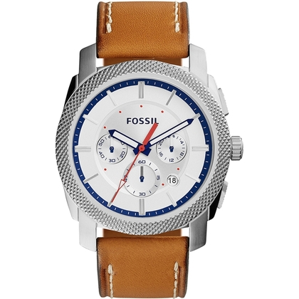 Fossil FS5063 Watch Strap Brown Leather