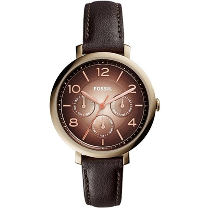 Fossil ES3898 Watch Strap Brown Leather