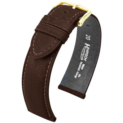 Hirsch Camelgrain Watch Band No Allergy Brown