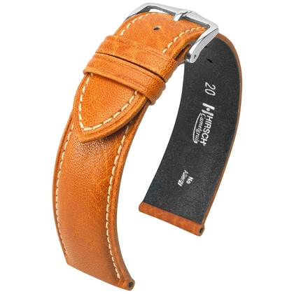 Hirsch Camelgrain Watch Band No Allergy Honey