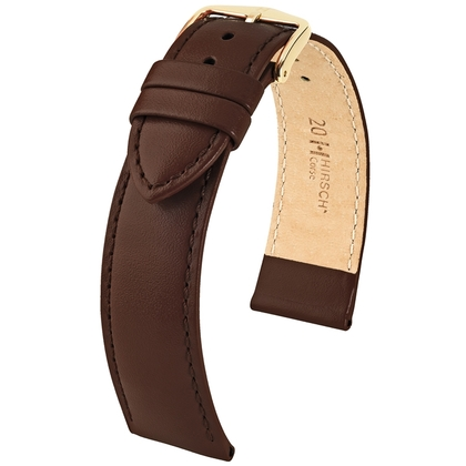 Hirsch Corse Watchband Calfskin Brown