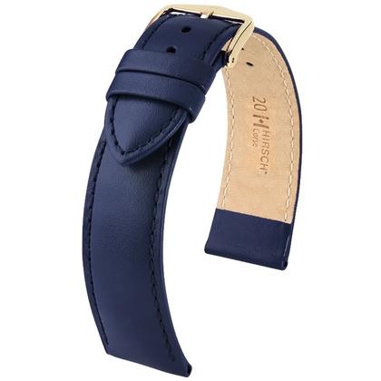 Hirsch Corse Watchband Calfskin Blue