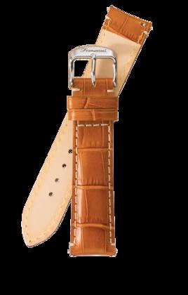 Fromanteel Alligatorgrain Watch Band Light Brown White Stitching