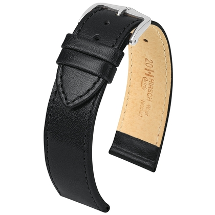 Hirsch Osiris Watch Band Box Leather Black
