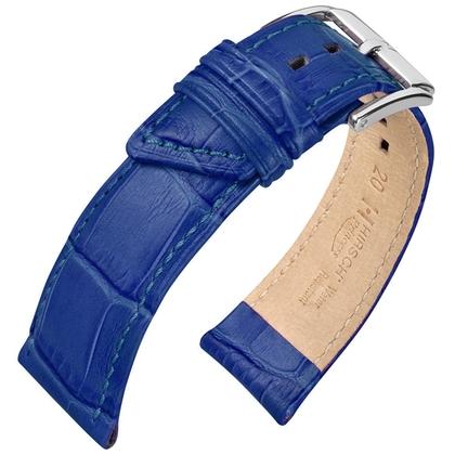 f198bc5cd Hirsch Princess Watch Strap Alligator Grain Blue