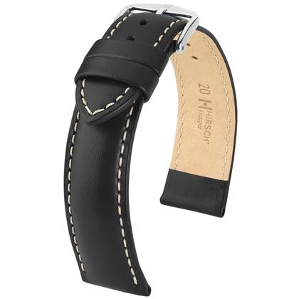 Hirsch Trooper Watch Band Calf Skin Black