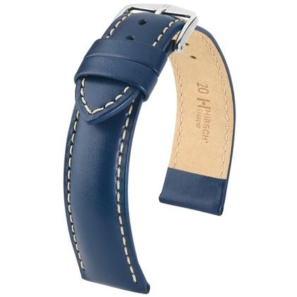 Hirsch Trooper Watch Band Calf Skin Blue