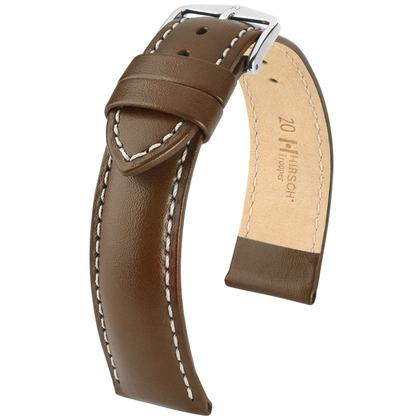 Hirsch Trooper Watch Band Calf Skin Brown