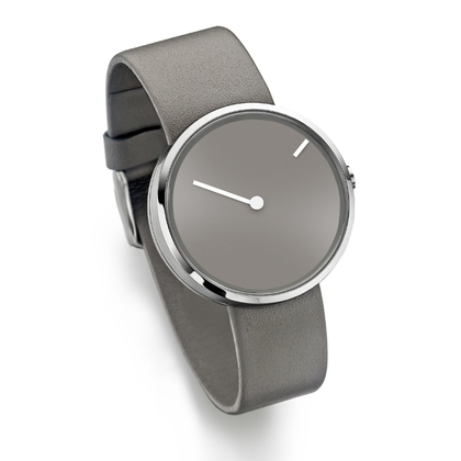 Jacob Jensen Watch Band Curve 252, gray leather