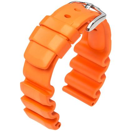 Hirsch Extreme Premium Caoutchouc Watch Band Orange 300m WR