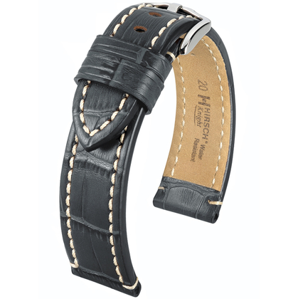 Hirsch Knight Watch Strap Gray