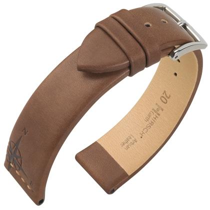 Hirsch Earth Artisan Compass Rose Watch Band Brown
