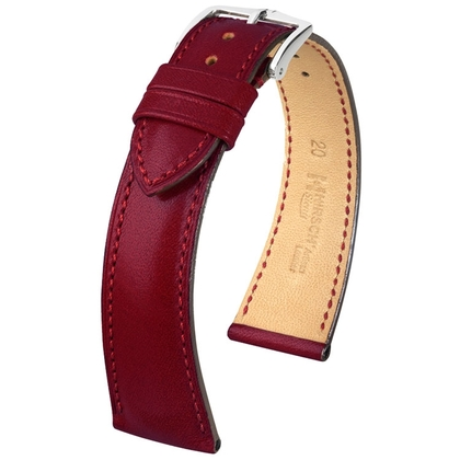 Hirsch Siena Artisan Watch Band Burgundy
