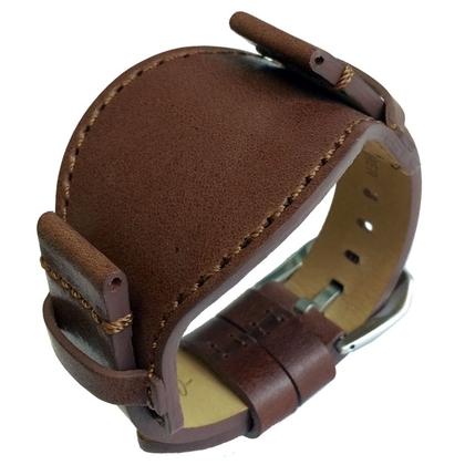 Bund Watch Strap Saddle Leather Brown