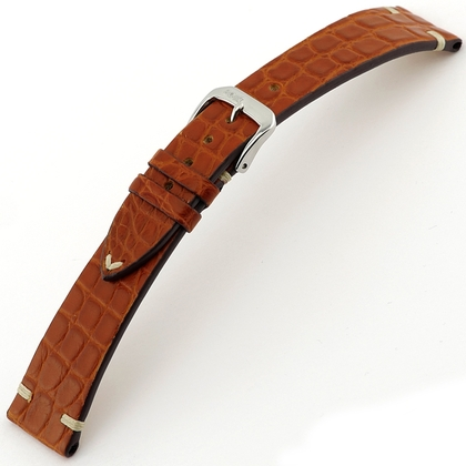Rios Royal Watch Strap Alligator Skin Brown