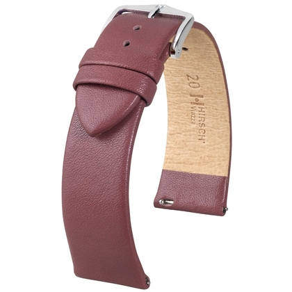 Hirsch Viazza Calf Skin Watch Strap with Quick Release Taupe