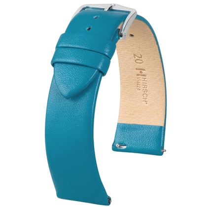 Hirsch Viazza Calf Skin Watch Strap with Quick Release Petrol