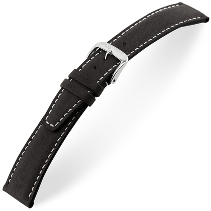 Rios Havana Watch Strap Pigskin Black