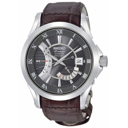Seiko Premier Watch Strap SRH009P1 Brown Leather