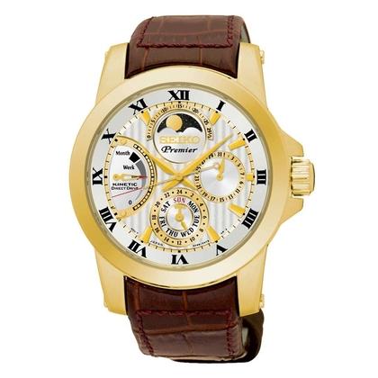 Seiko Premier Watch Strap SRX014P1 Brown Leather