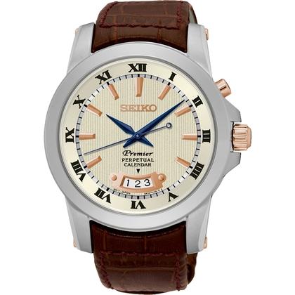 Seiko Premier Watch Strap SNQ150P1 Brown Leather