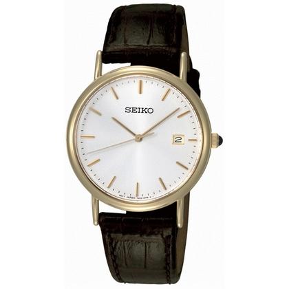 Seiko Watch Strap SKK698P1 Brown Leather