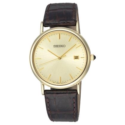 Seiko Watch Strap SKK722P1 Brown Leather