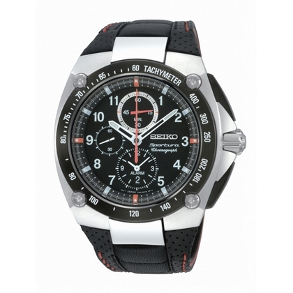 Seiko Sportura Watch Strap SNAD23P2 Black Leather