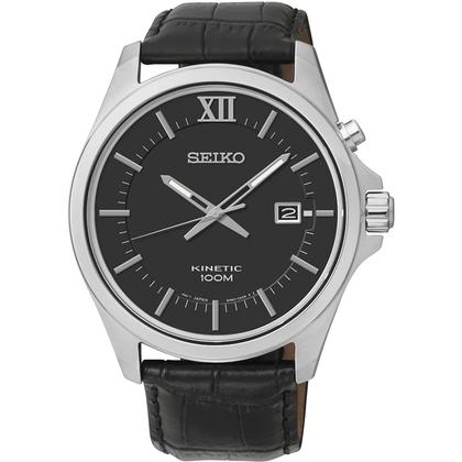 Seiko Kinetic Watch Strap SKA573P2 Black Leather