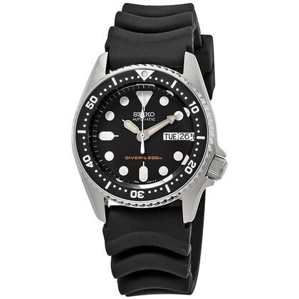 Seiko Watch Strap for Divers Watches Black Rubber - 20mm