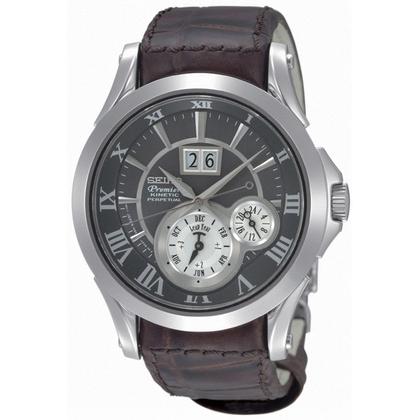 Seiko Premier Watch Strap SNP025P1 Brown Leather