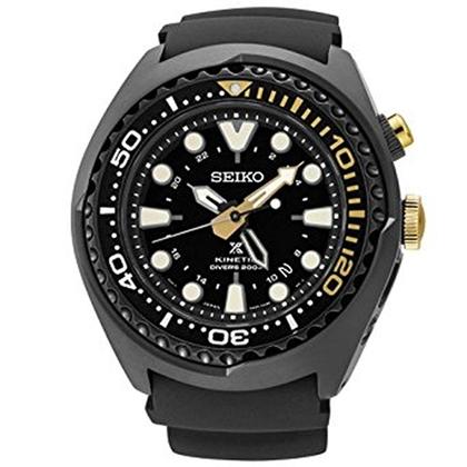 Seiko Prospex Kinetic Watch Strap SUN045 Black Rubber