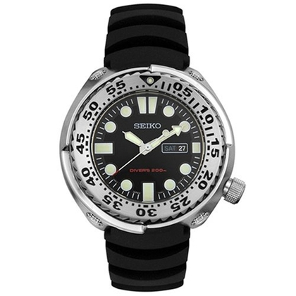 Seiko Sawtooth Watch Strap SHC063 SHC061 Black Rubber