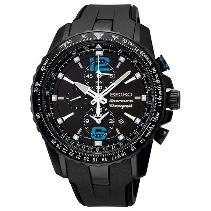 Seiko Sportura Watch Strap SNAF25 Black Rubber