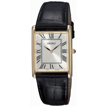 Seiko Watch Strap SFP608 Black Leather