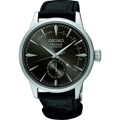 Seiko Presage Automatic Watch Strap SSA345 Black Leather
