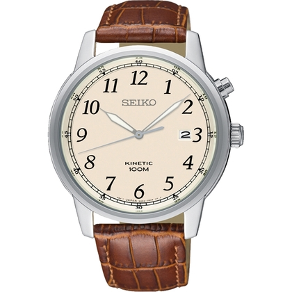 Seiko Kinetic Watch Strap SKA779 Brown Leather
